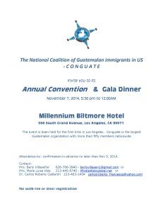 C O N G U A T E Invitation Gala Dinner 10-27-2014