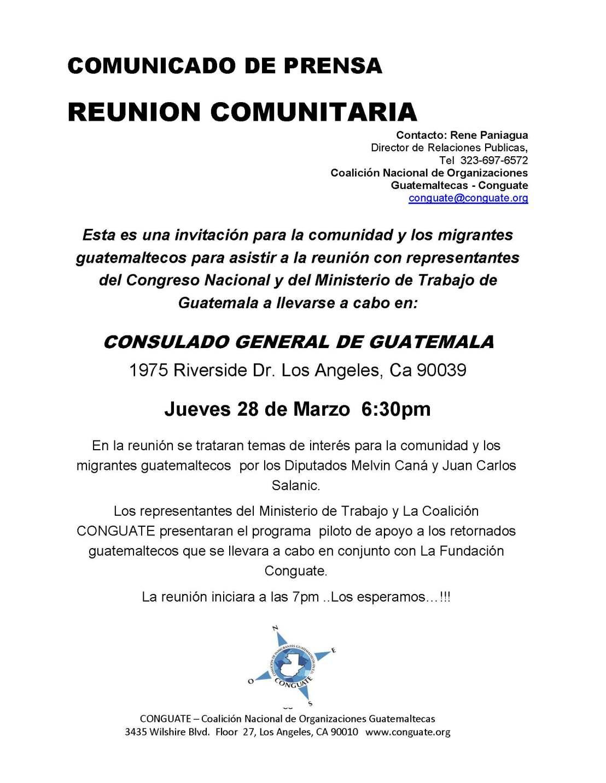 COMUNICADO COMUNITARIO DE REUNION EN EL CONSULADO MAR2019